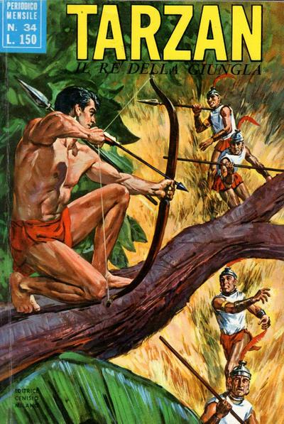 Cover for Tarzan (Editrice Cenisio, 1968 series) #34