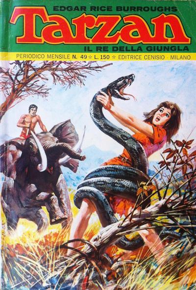Cover for Tarzan (Editrice Cenisio, 1968 series) #49