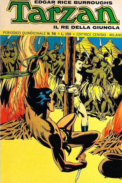 Cover for Tarzan (Editrice Cenisio, 1968 series) #56