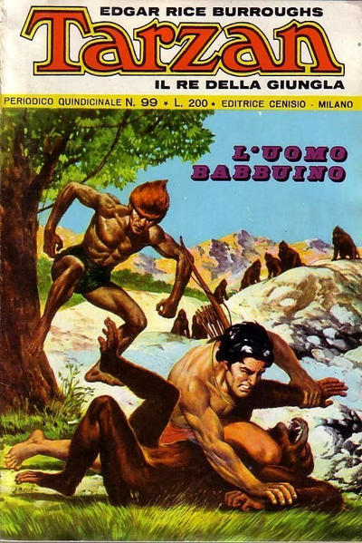 Cover for Tarzan (Editrice Cenisio, 1968 series) #99