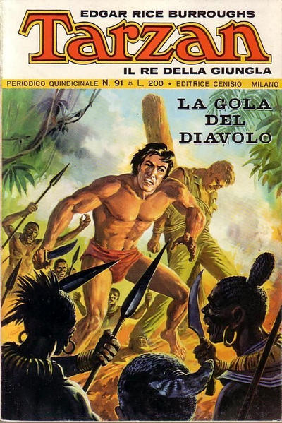 Cover for Tarzan (Editrice Cenisio, 1968 series) #91
