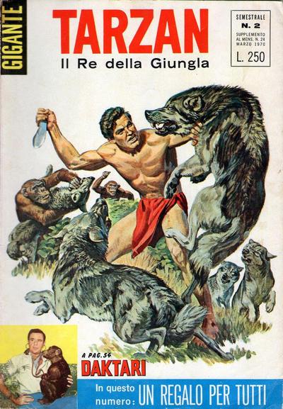 Cover for Tarzan Gigante (Editrice Cenisio, 1969 series) #2