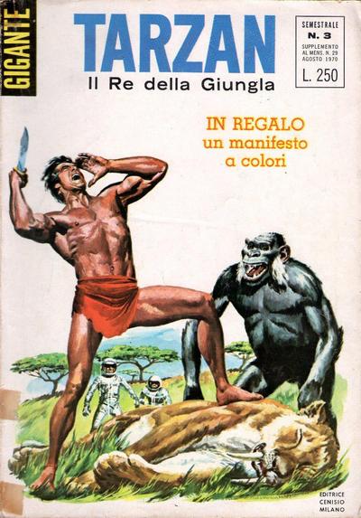 Cover for Tarzan Gigante (Editrice Cenisio, 1969 series) #3