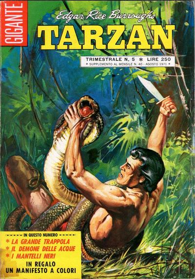 Cover for Tarzan Gigante (Editrice Cenisio, 1969 series) #5
