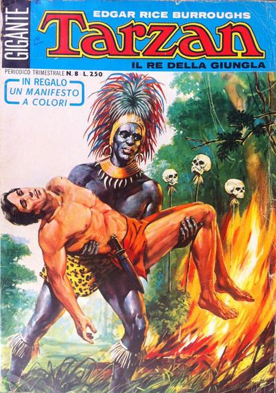 Cover for Tarzan Gigante (Editrice Cenisio, 1969 series) #8
