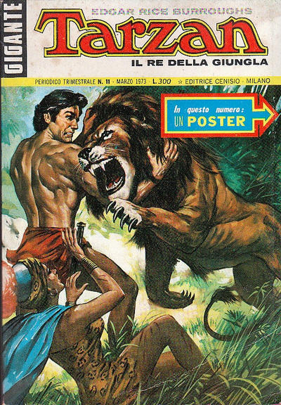 Cover for Tarzan Gigante (Editrice Cenisio, 1969 series) #11