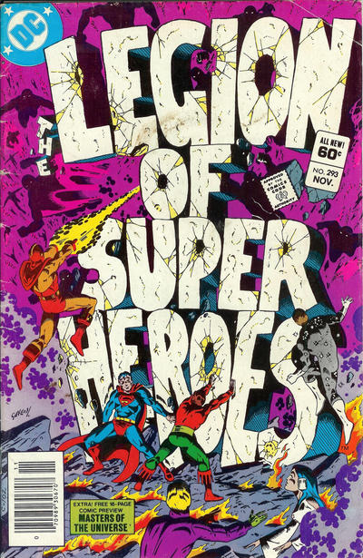 Cover for The Legion of Super-Heroes (DC, 1980 series) #293 [Direct]