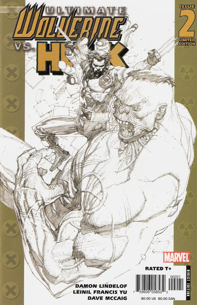 Cover for Ultimate Wolverine vs. Hulk (Marvel, 2006 series) #2