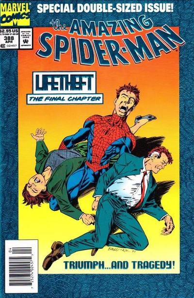 Cover for The Amazing Spider-Man (Marvel, 1963 series) #388 [Regular Direct Edition]