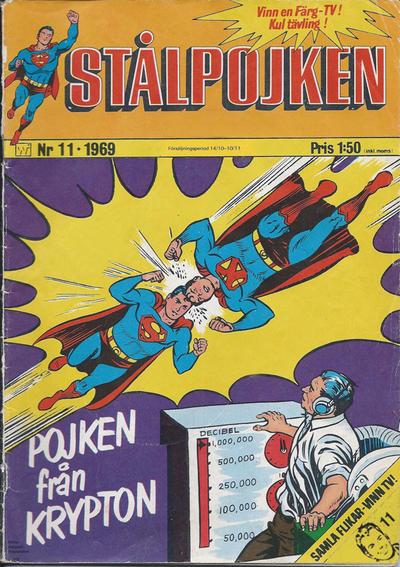 Cover for Stålpojken (Williams Förlags AB, 1969 series) #11/1969