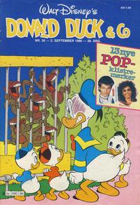 Cover Thumbnail for Donald Duck & Co (Hjemmet / Egmont, 1948 series) #36/1986