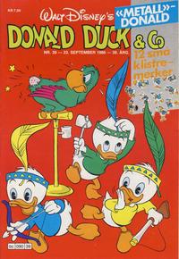 Cover Thumbnail for Donald Duck & Co (Hjemmet / Egmont, 1948 series) #39/1986