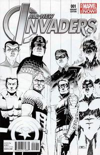 Cover Thumbnail for All-New Invaders (Marvel, 2014 series) #1 [John Cassaday Black & White Variant]