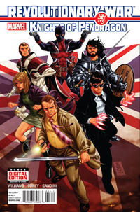 Cover Thumbnail for Revolutionary War: Knights of Pendragon (Marvel, 2014 series) #1