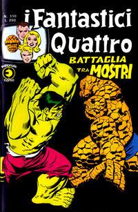 Cover for I Fantastici Quattro (Editoriale Corno, 1971 series) #110