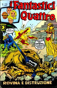 Cover Thumbnail for I Fantastici Quattro (Editoriale Corno, 1971 series) #116