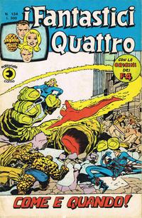 Cover Thumbnail for I Fantastici Quattro (Editoriale Corno, 1971 series) #124