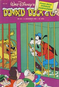 Cover Thumbnail for Donald Duck & Co (Hjemmet / Egmont, 1948 series) #49/1986