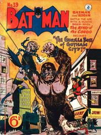Cover Thumbnail for Batman (K. G. Murray, 1950 series) #39