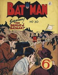Cover Thumbnail for Batman (K. G. Murray, 1950 series) #30