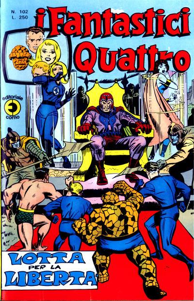 Cover for I Fantastici Quattro (Editoriale Corno, 1971 series) #102