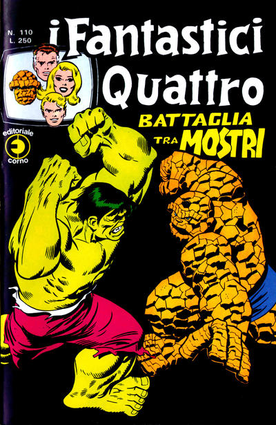 Cover for I Fantastici Quattro (Editoriale Corno, 1971 series) #110