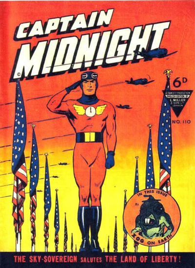 Cover for Captain Midnight (L. Miller & Son, 1950 series) #110