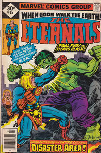 Cover for The Eternals (Marvel, 1976 series) #15 [30¢ Cover Price]