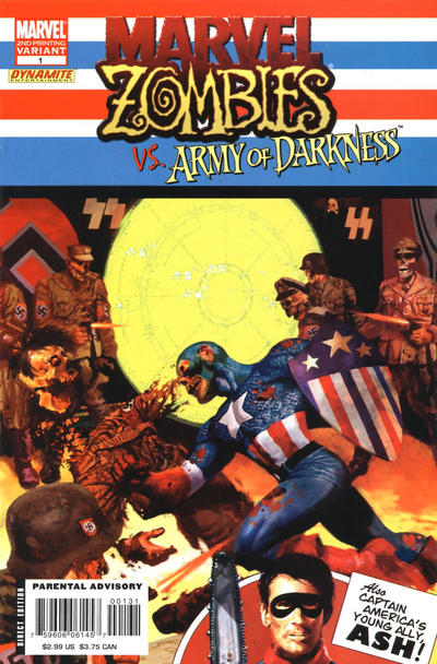 Cover for Marvel Zombies / Army of Darkness (Marvel / Dynamite Entertainment, 2007 series) #1 [Second Printing]