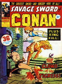 Cover Thumbnail for Savage Sword of Conan (Marvel UK, 1975 series) #5