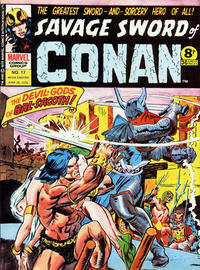 Cover Thumbnail for Savage Sword of Conan (Marvel UK, 1975 series) #17