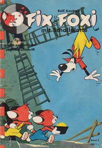 Cover Thumbnail for Fix und Foxi mit Schallplatte (Pabel Verlag, 1960 series) #4