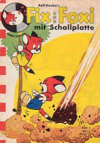 Cover Thumbnail for Fix und Foxi mit Schallplatte (Pabel Verlag, 1960 series) #11