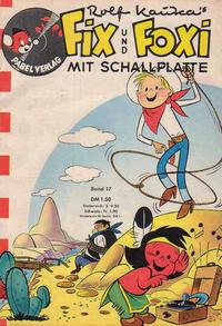 Cover for Fix und Foxi mit Schallplatte (Pabel Verlag, 1960 series) #17