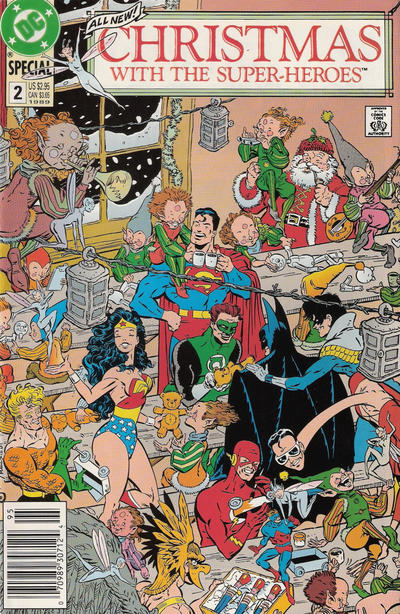 Cover for Christmas with the Super-Heroes (DC, 1988 series) #2 [Direct]