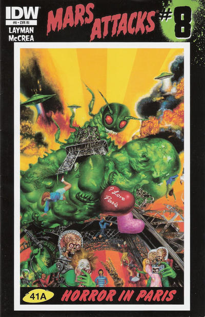 Cover for Mars Attacks (IDW, 2012 series) #8 [Retailer Incentive]