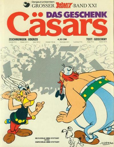 Cover for Asterix (Egmont Ehapa, 1968 series) #21 - Das Geschenk Cäsars [1. Aufl. 1976]