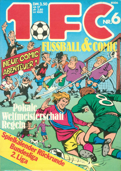 Cover for 1. FC Fussball & Comic (Gevacur, 1975 series) #6