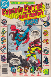 Cover Thumbnail for Captain Carrot and His Amazing Zoo Crew! (DC, 1982 series) #14 [Newsstand]