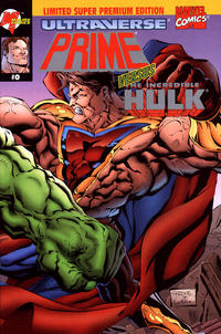 Cover for Prime vs. The Incredible Hulk (Malibu; Marvel, 1995 series) #0 [Limited Premium Edition]