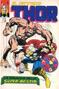 Cover Thumbnail for Il Mitico Thor (Editoriale Corno, 1971 series) #34