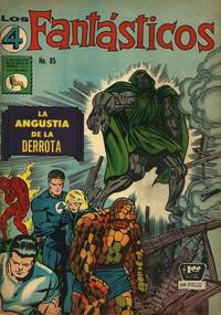 Cover Thumbnail for Los 4 Fantásticos (Editora de Periódicos La Prensa S.C.L., 1962 series) #85