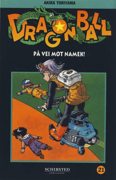 Cover for Dragon Ball (Bladkompaniet / Schibsted, 2004 series) #21 - På vei mot Namek!