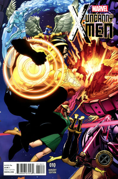 Cover for Uncanny X-Men (Marvel, 2013 series) #10 [X-Men 50th Anniversary Variant by Neal Adams]