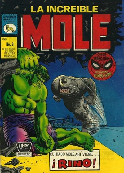 Cover for La Increible Mole (Editora de Periódicos La Prensa S.C.L., 1969 series) #3