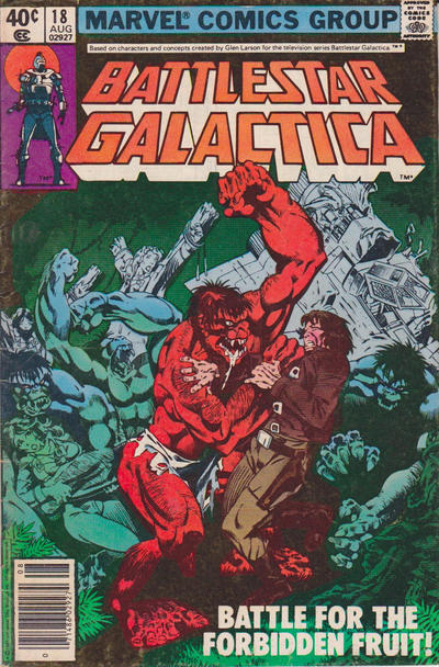 Cover for Battlestar Galactica (Marvel, 1979 series) #18 [Direct Edition]