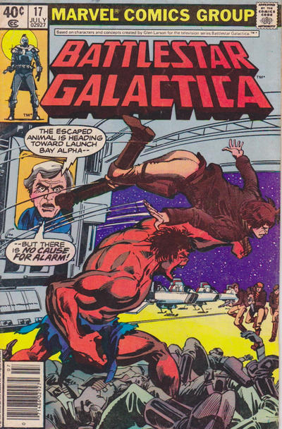 Cover for Battlestar Galactica (Marvel, 1979 series) #17 [Direct Edition]