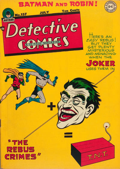 Cover for Detective Comics (DC, 1937 series) #137