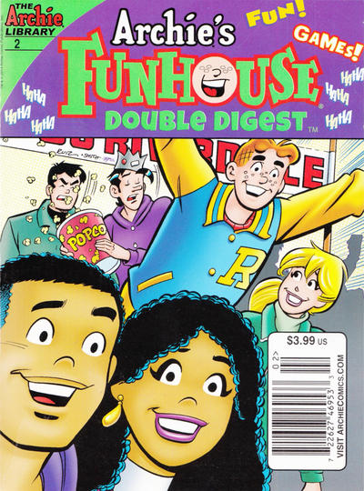 Cover for Archie's Funhouse Double Digest (Archie, 2014 series) #2 [Direct Edition]
