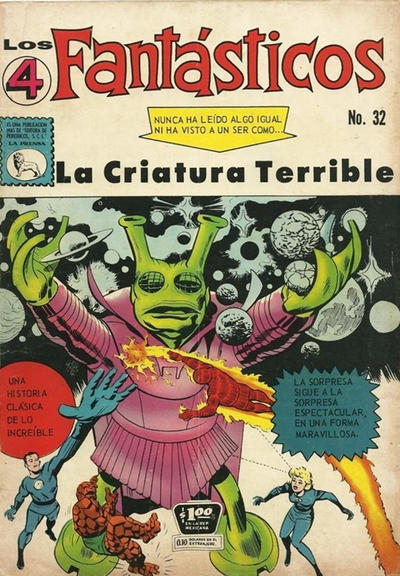 Cover for Los 4 Fantásticos (Editora de Periódicos La Prensa S.C.L., 1962 series) #32